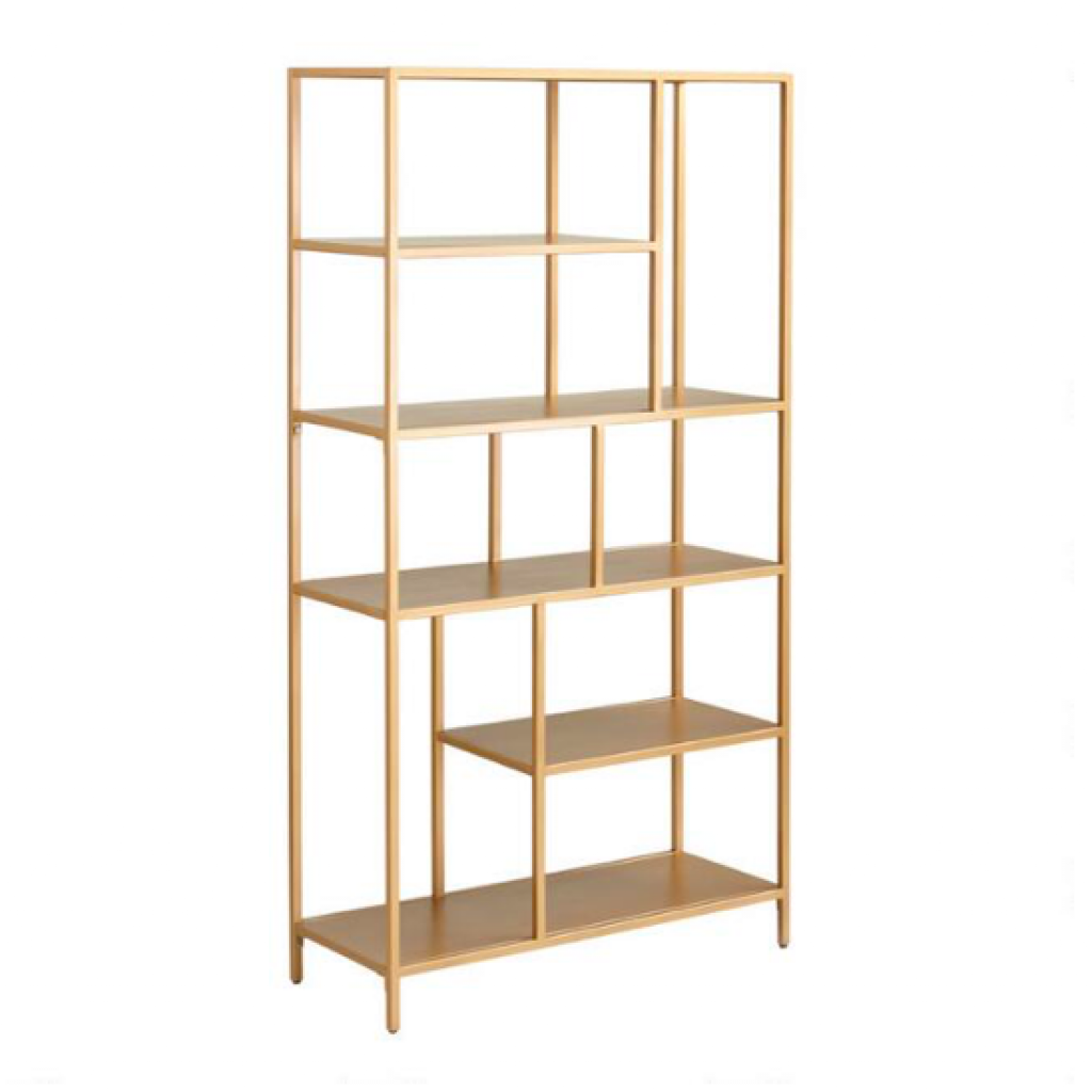 Antique Gold Metal Aaliyah Bookshelf