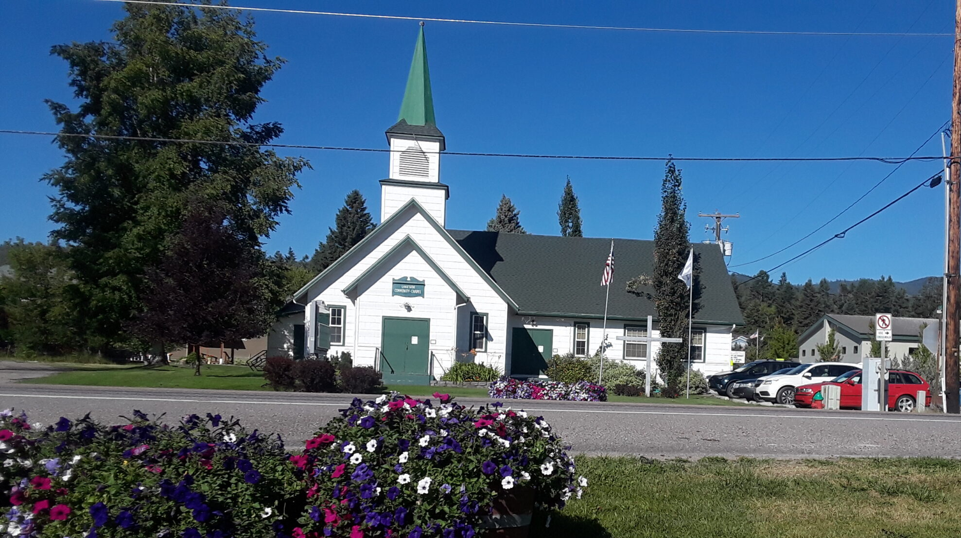 A charming little chapel on the lovely Flathead Lake of Montana
