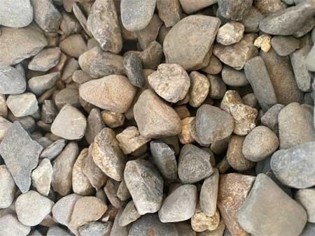 3/4 round grey stone