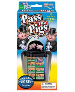 Image shows pass the pigs game.