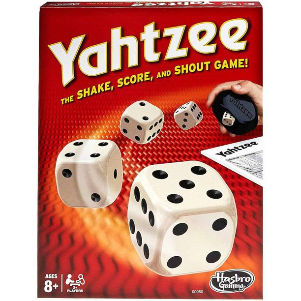 Yahtzee game box.