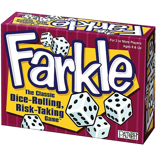 Image shows farkle game box.