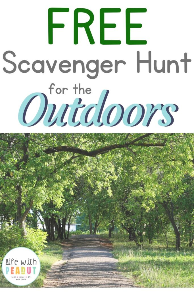 Things can get boring in quarantine. Here is a free printable outdoor scavenger hunt for kids to do outside around the neighborhood in nature! This treasure hunt is easy, simple, and perfect for a relaxing spring time activity to get you and your kids out of the house!