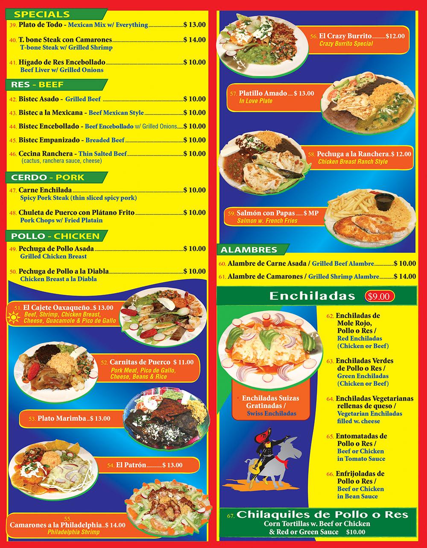 Crazy Burrito Menu Page 3