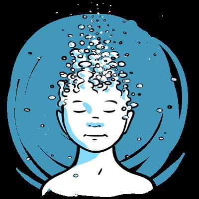 How Floating Dissolves Stress