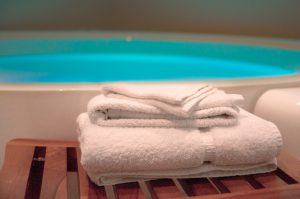 Float Pool With Towel