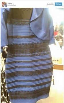 So which is it for you?  Black and violet?  White and gold?  Check back later and your answer might be different.