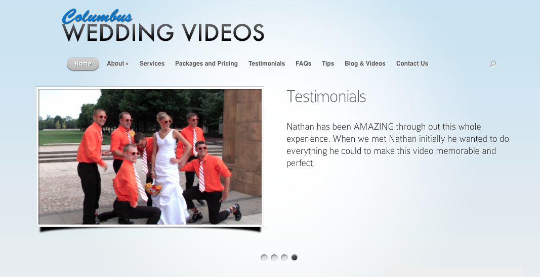 Columbus' premiere wedding video company, Columbus Wedding Videos