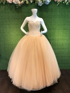 Champagne light pink Ball Gown