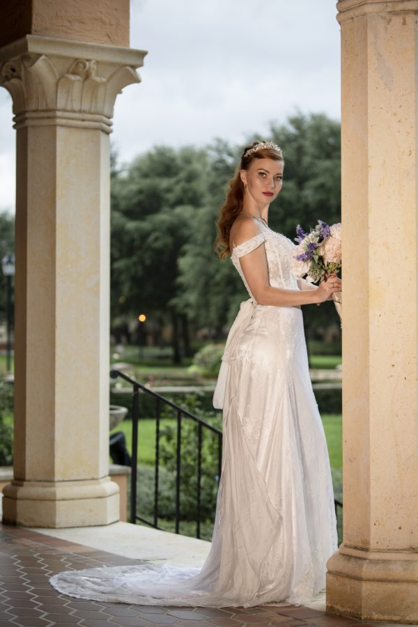 Two pieces wedding dress corset