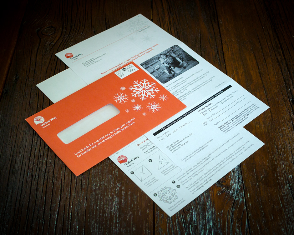 United Way Toronto Holiday Special Appeal Direct Mail