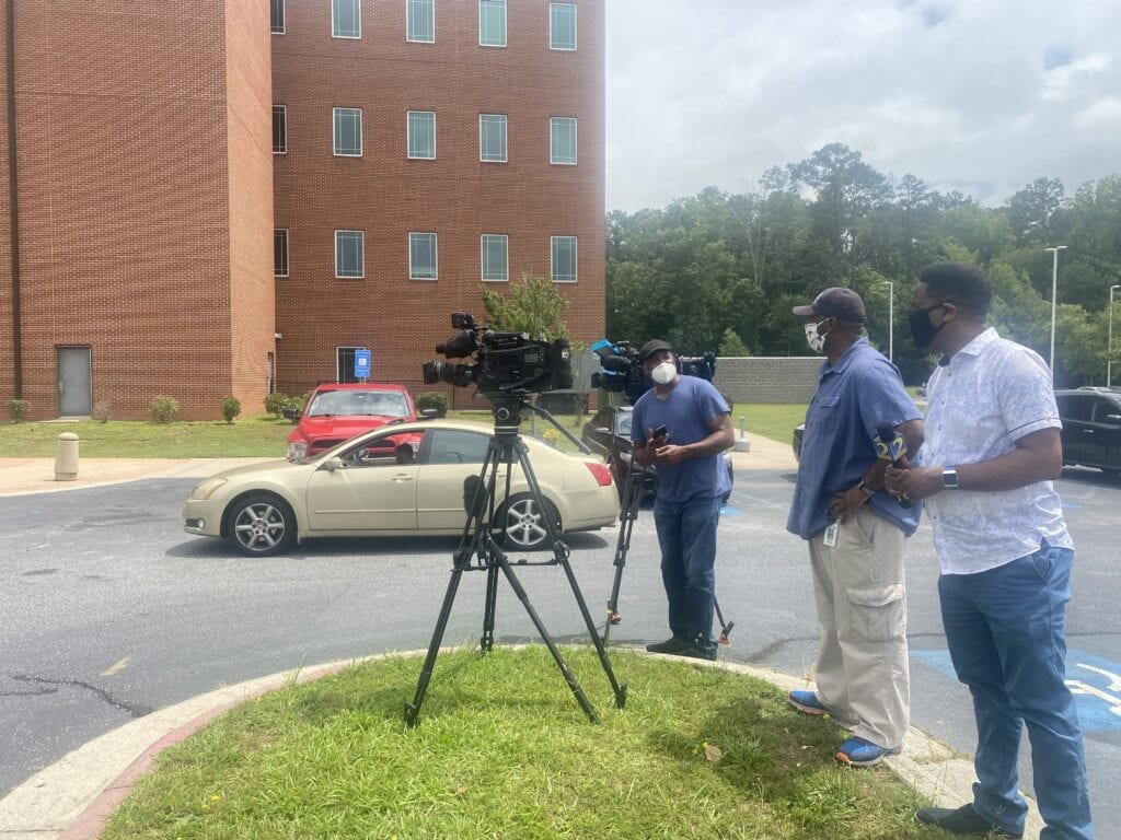 Press outside Hill raid June 10, 2020