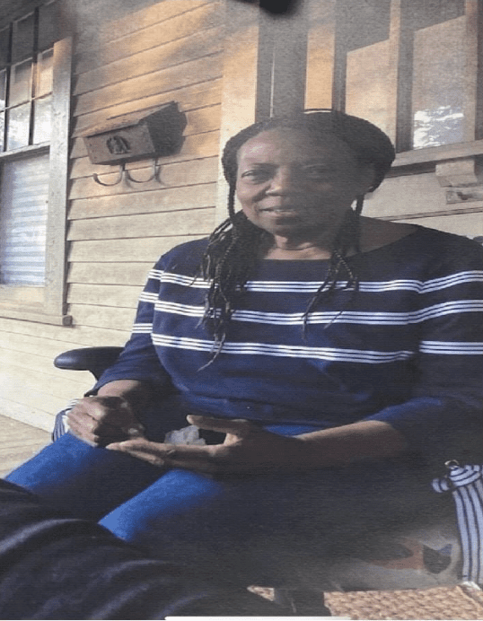 Phyllis Williams, 74, missing from East Point, GA since July 9, 2020. Diagnosed with dementia. Last seen getting into red Grand Prix with no license plate. Call (404) 761-2177, 911, or local police with info.