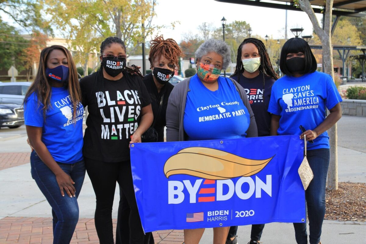 Clayton County Democrats celebrate the Biden-Harris win, Jonesboro, GA, Nov. 7, 2020