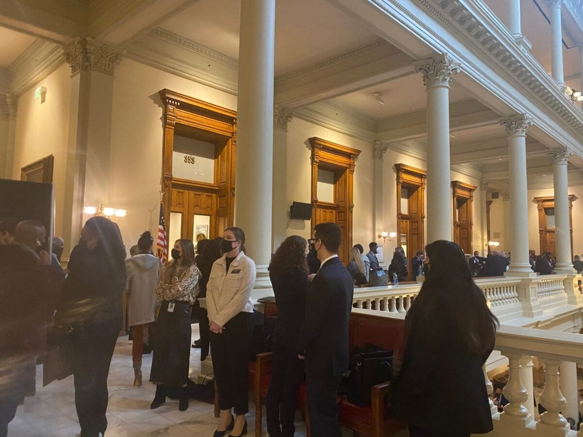 Lobbyists at GA Assembly Jan. 11, 2021 opening day