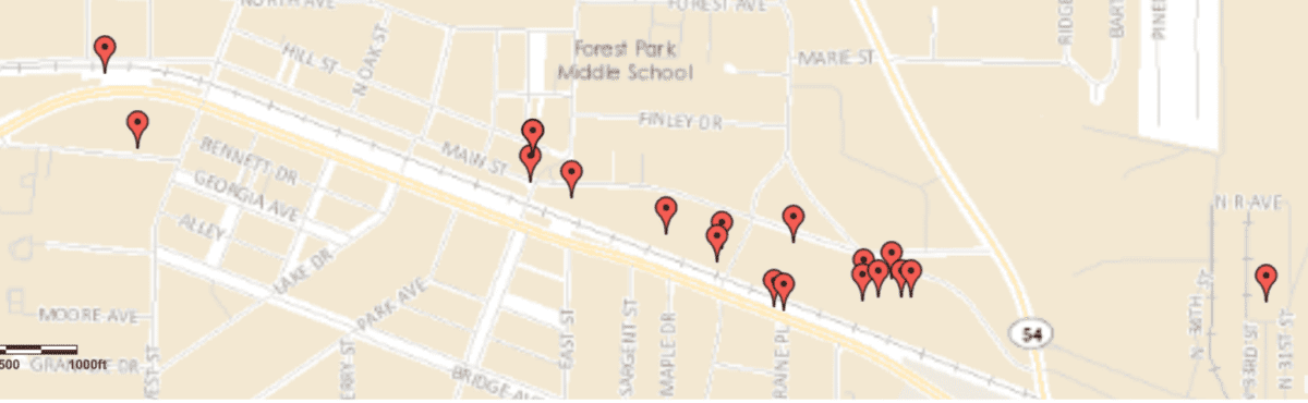 Properties owned by Development Authority of Forest Park