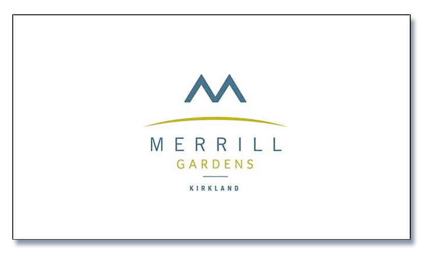 Merrill Gardens of Kirkland logo and chamber sponsor