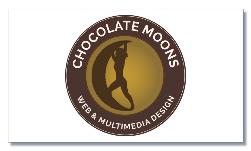 Chocolate Moons Web and Multimedia Authoring logo at 822px