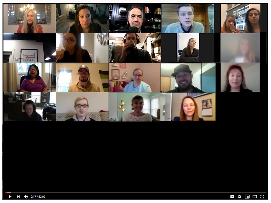 image of a typical chamber video conference call