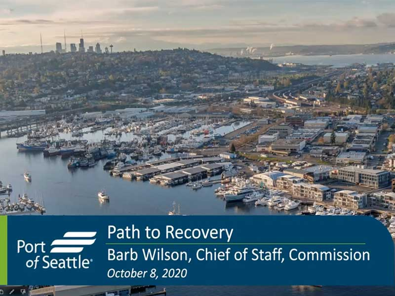 Intro image for Port of Seattle Path to Recovery during and after pandemic