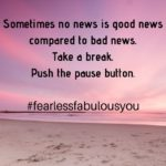 Sometimes no news is good news compared to bad news!