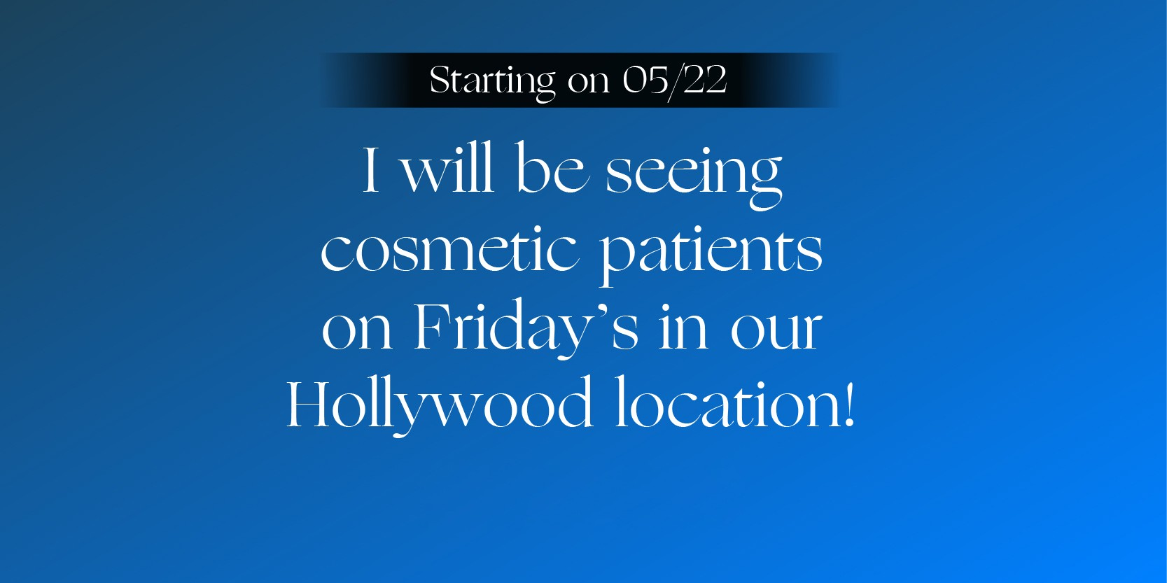 Cosmetic Appointments