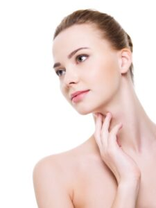 Youthful looking neck skin and decolletage