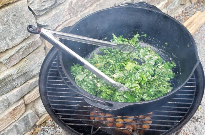 Even kale is good on a smoker