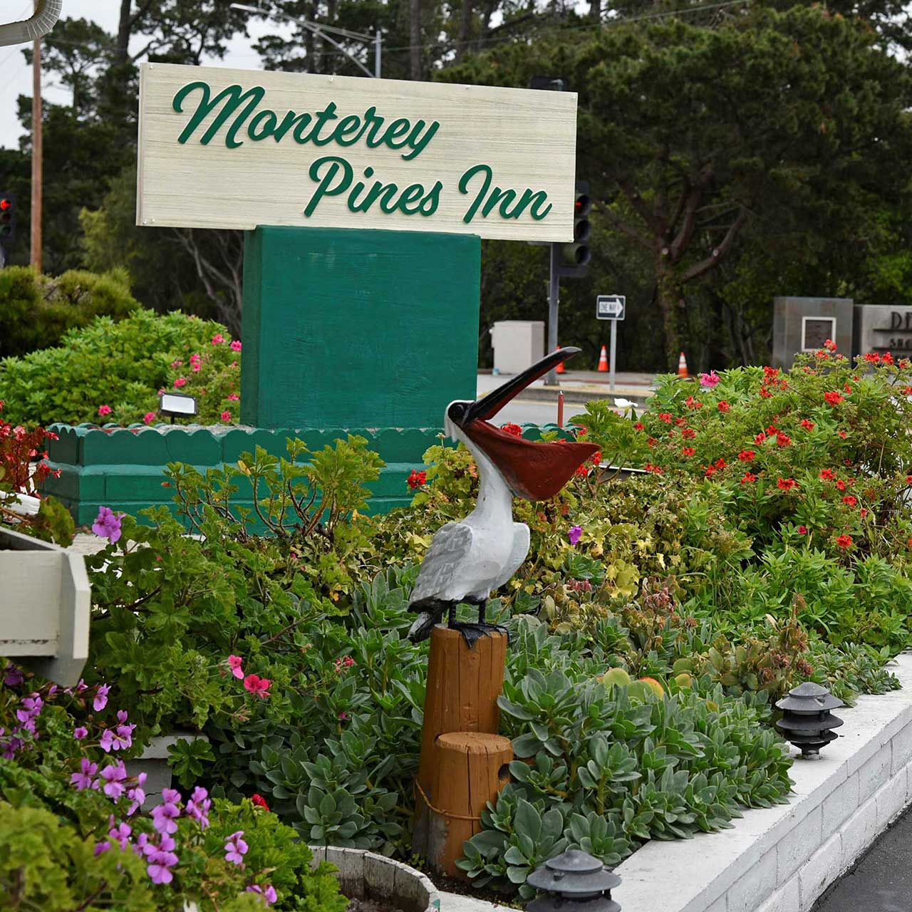 Monterey Pines Inn Sign