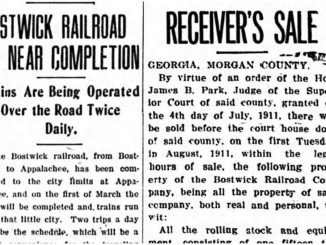 Newspaper headlines about the Bostwick Railroad.
