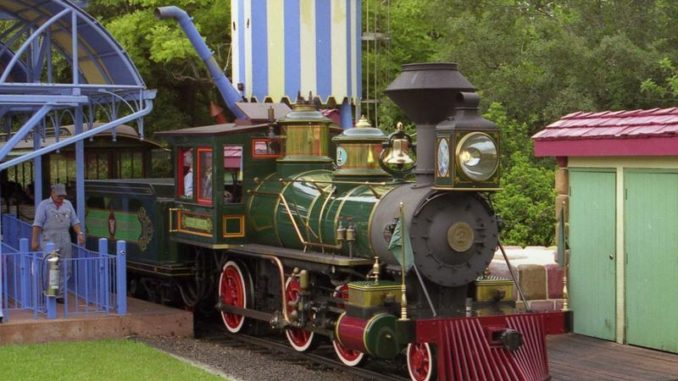 The Lilly Belle locomotive at Walt Disney World