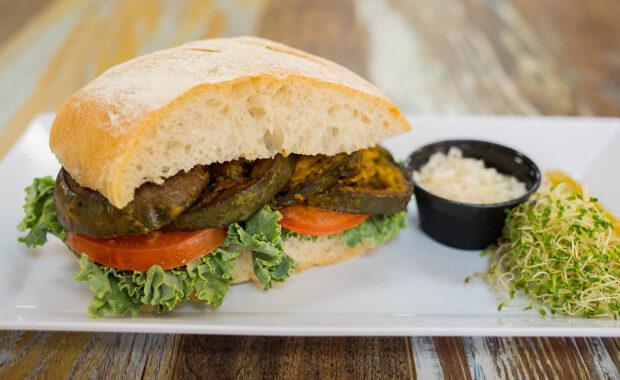 Vegan Eggplant Sandwich at Sidewalk Chef Kitchen