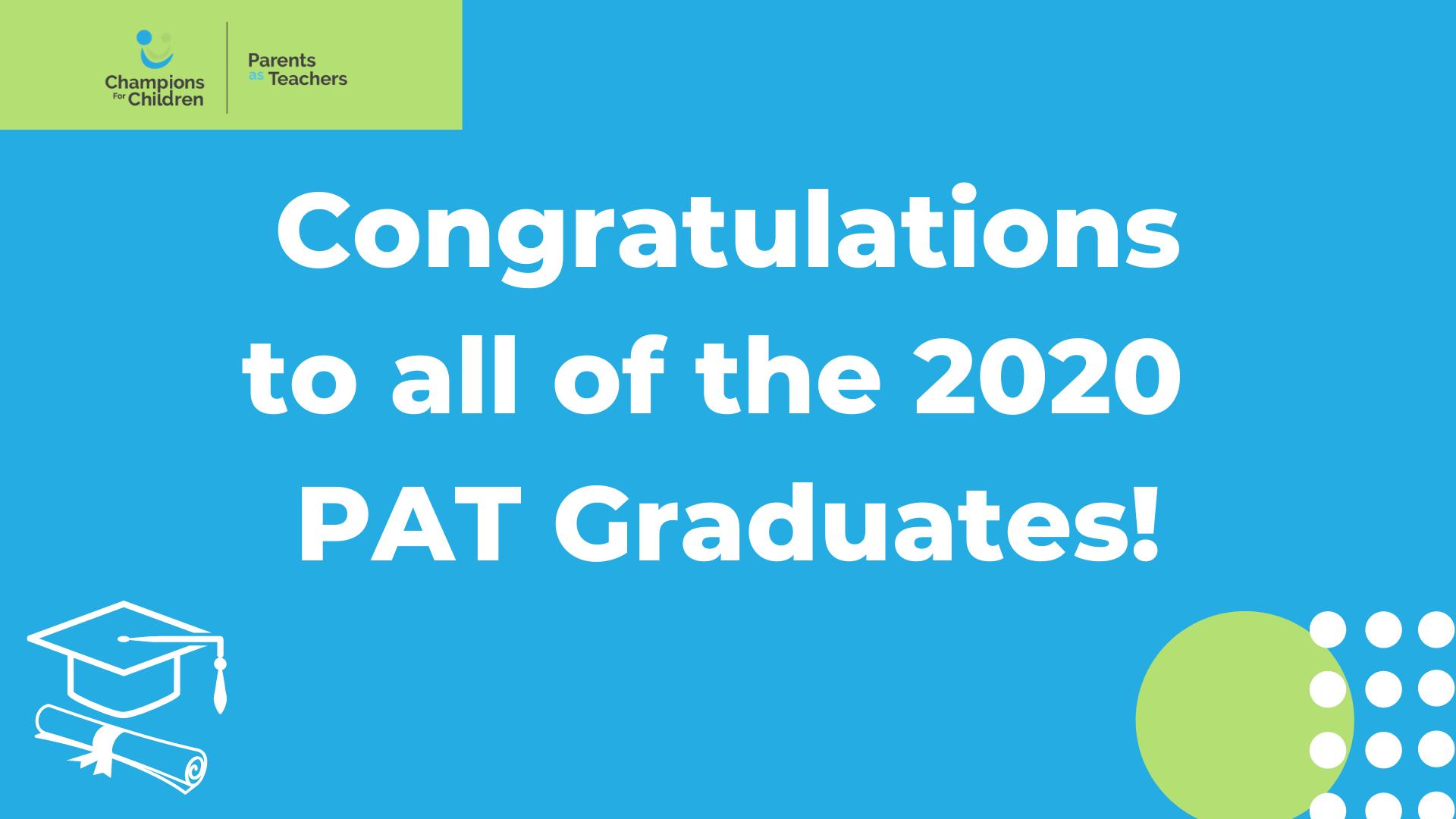 Congraulations PAT graduates