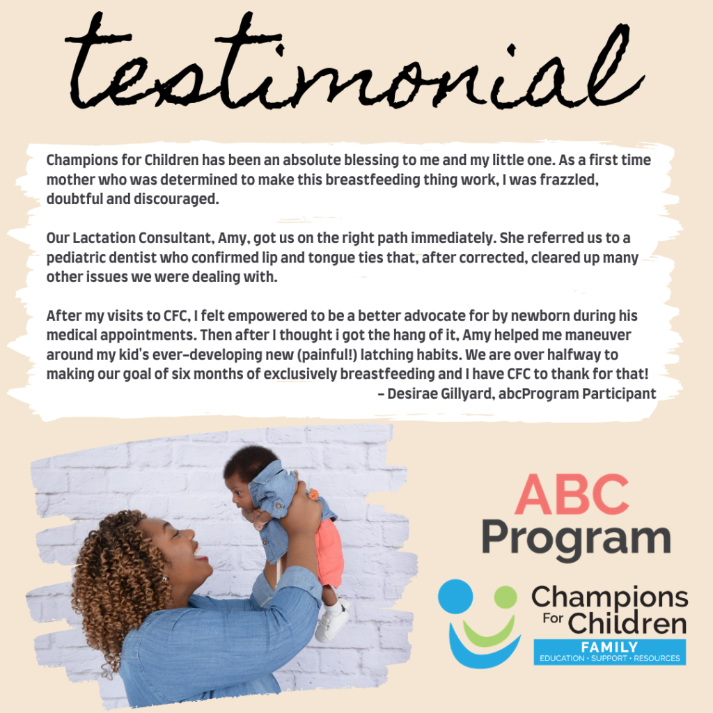 testimonial from breastfeeding mom