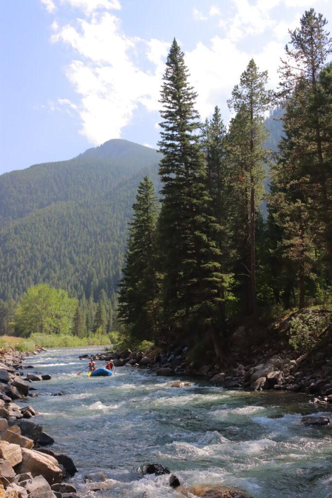 Gallatin River rafting Montana