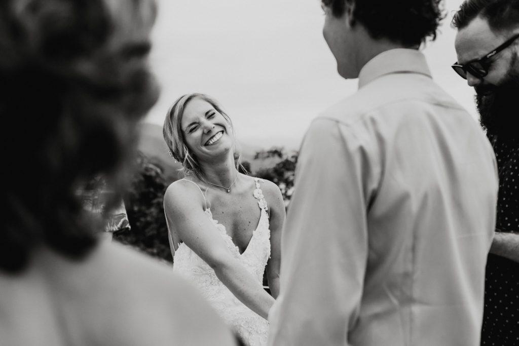 wedding ceremony bride smile moment Vallarta mismaloya groom fun