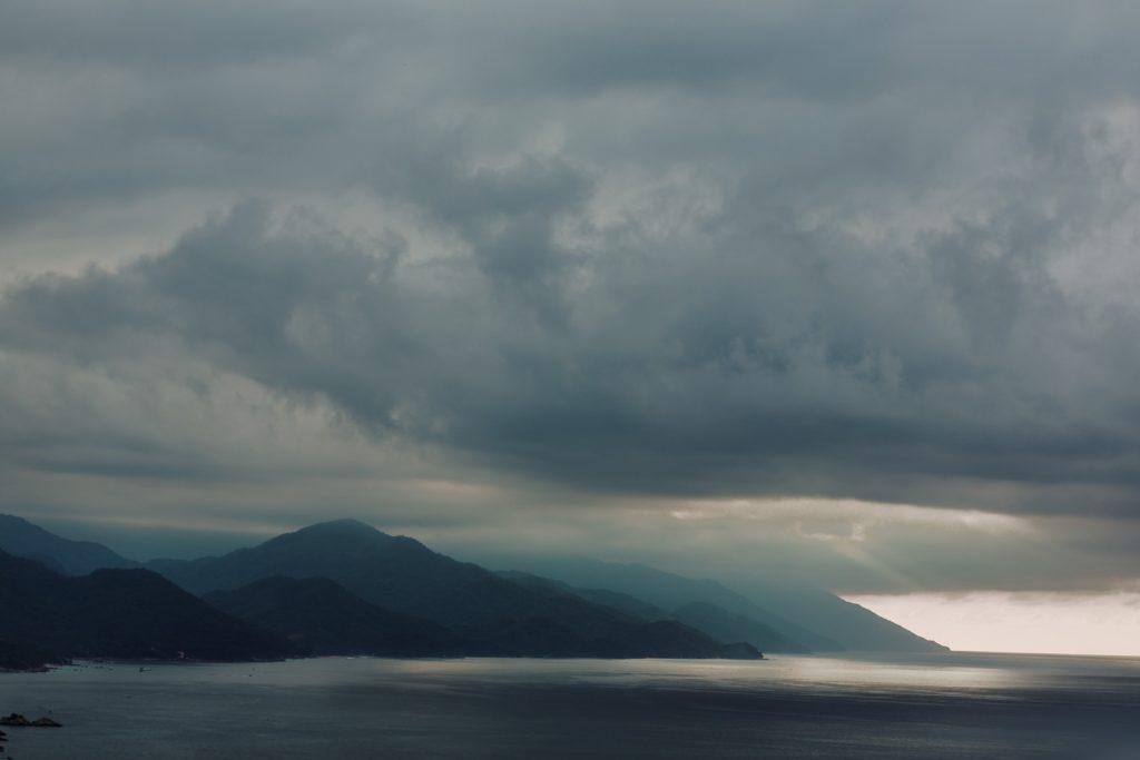 landscape sunset mismaloya Vallarta ocean light clouds sky wedding location