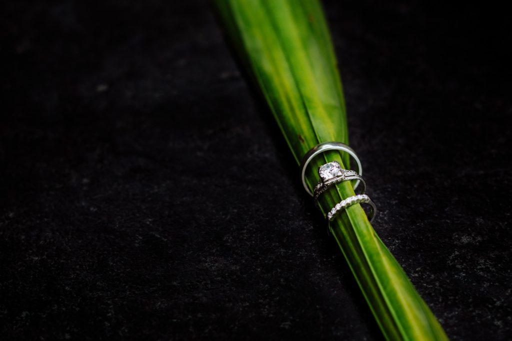 wedding Vallarta mismaloya rings diamond leaf