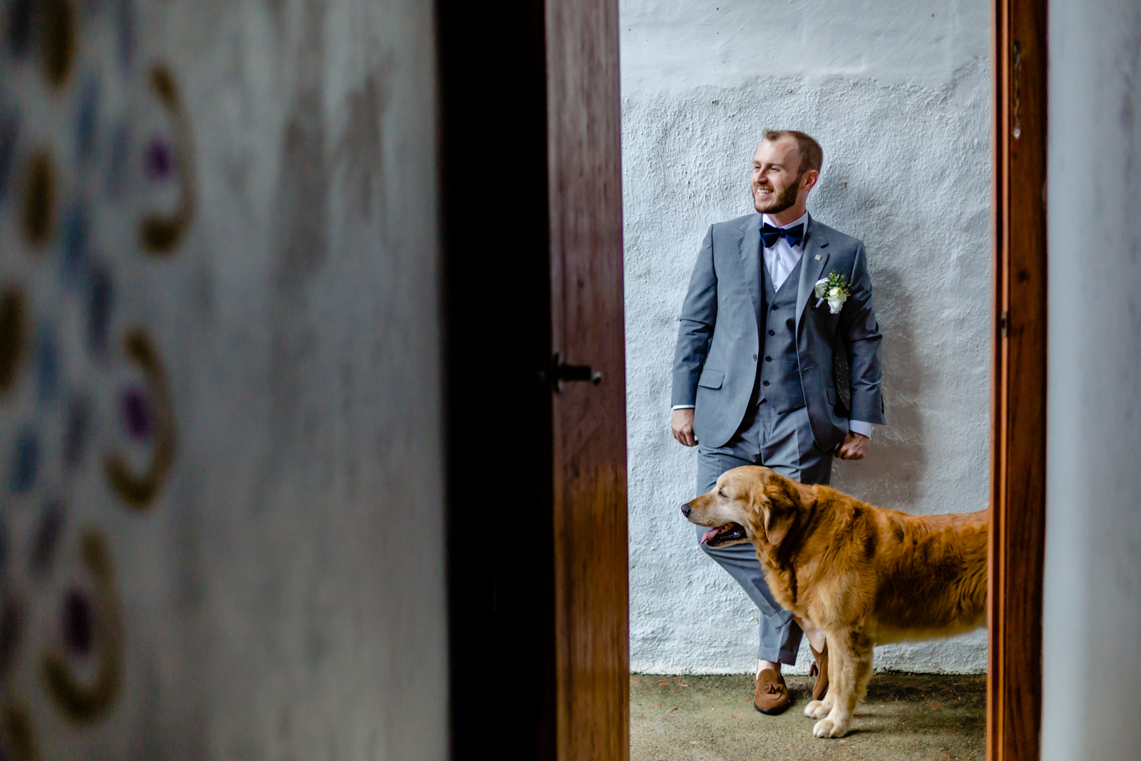 groom dog gettin ready san pancho wedding destination wedding photography
