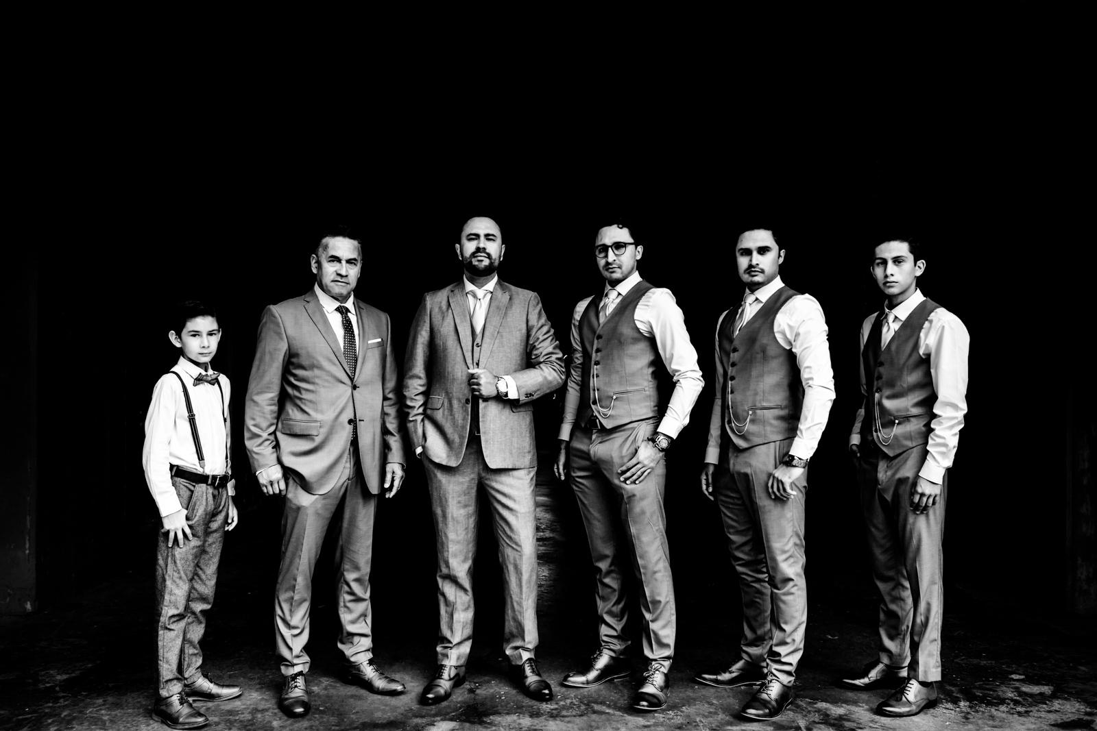 groom's best men and family