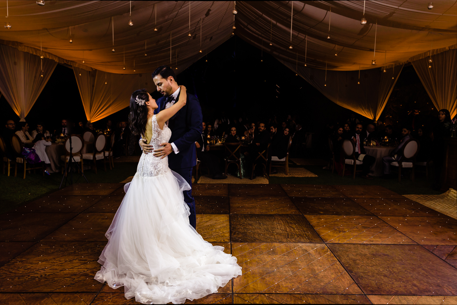 first dance bride and the groom on the dance floor