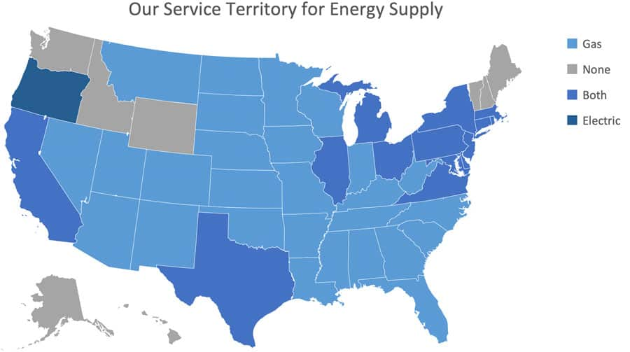 Energy Supply Consulting Areas Map
