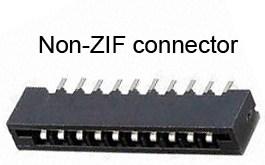 Non ZIF connector