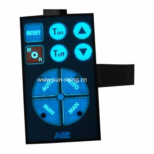 membrane switch with led