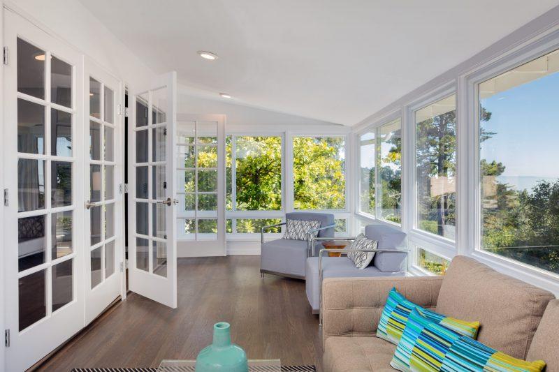 Clean windows in beautiful home