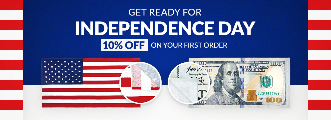 Get ready for Independency Day - 10% off on your first order