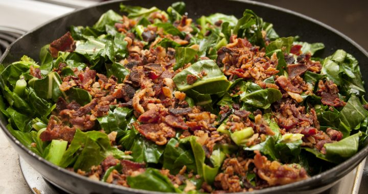 Lucy's Favorite Collards w/ Bacon