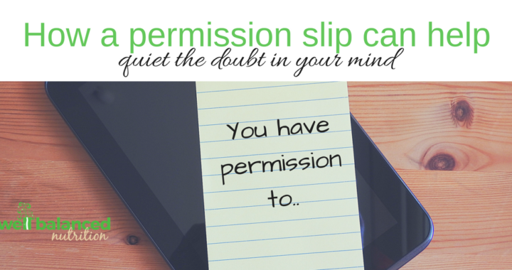How a Permission Slip can help...