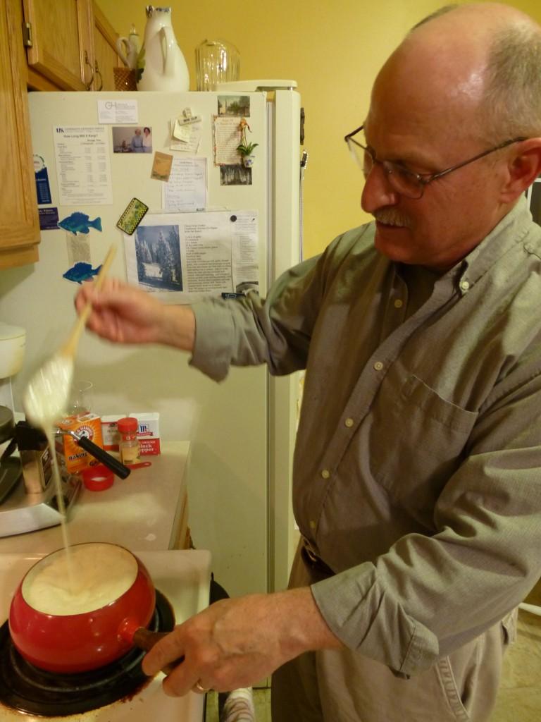 Making the fondue