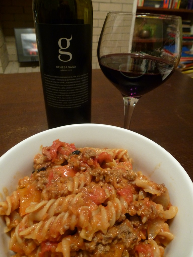 Toro paired with fusilli Bolognese